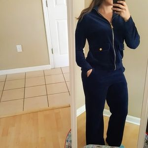 Lauren Ralph Lauren M Dark Blue Velour tracksuit